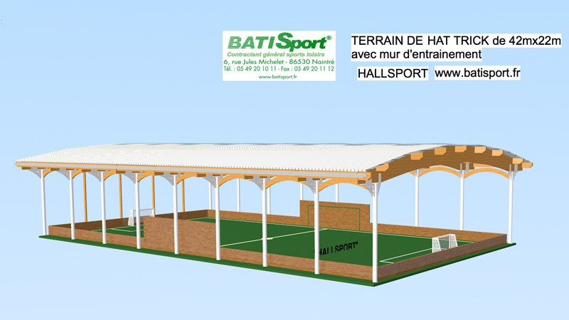 Couverture terrain de sport batisport for Dimension terrain de boule