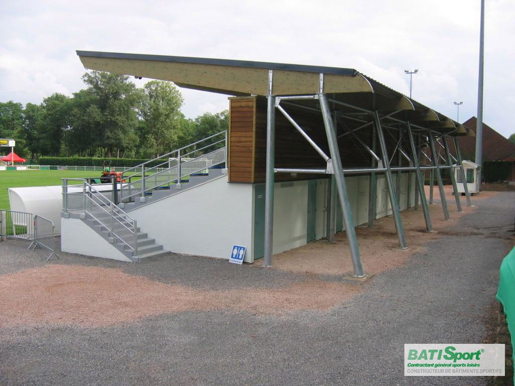 Rénovation de la tribune de Decize - Batisport